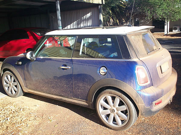 Absolutely no water was used in cleaning and detailing this Mini Cooper.