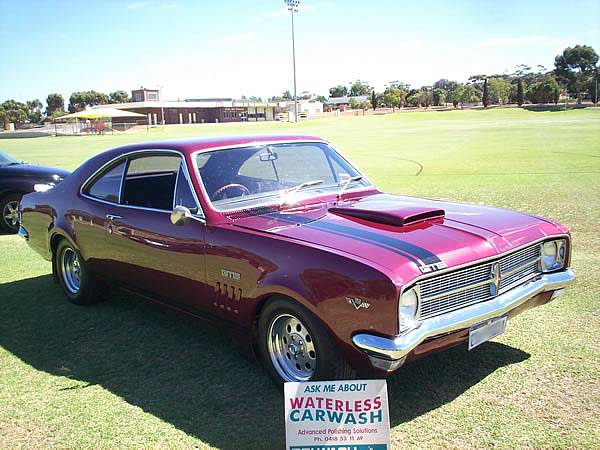This classic Monaro muscle car elegantly gleamed with a real shine as it stood on show after being cleaned